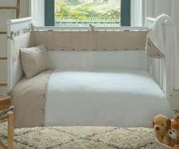 Bovi PANDA Kinderbettwäsche mit Stickmotiv
